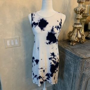 Freeloader Blue and White Tie Dye Tank Dress